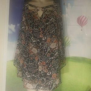 Ungee usa floral bell sleeve dress